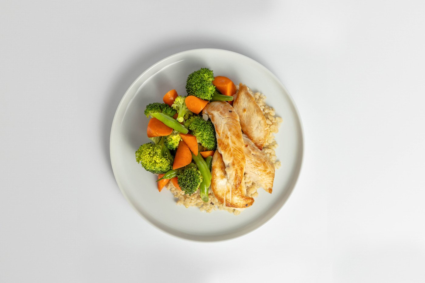 Chicken Tenders, Brown Rice, Mixed Vegetables Meal Product Image