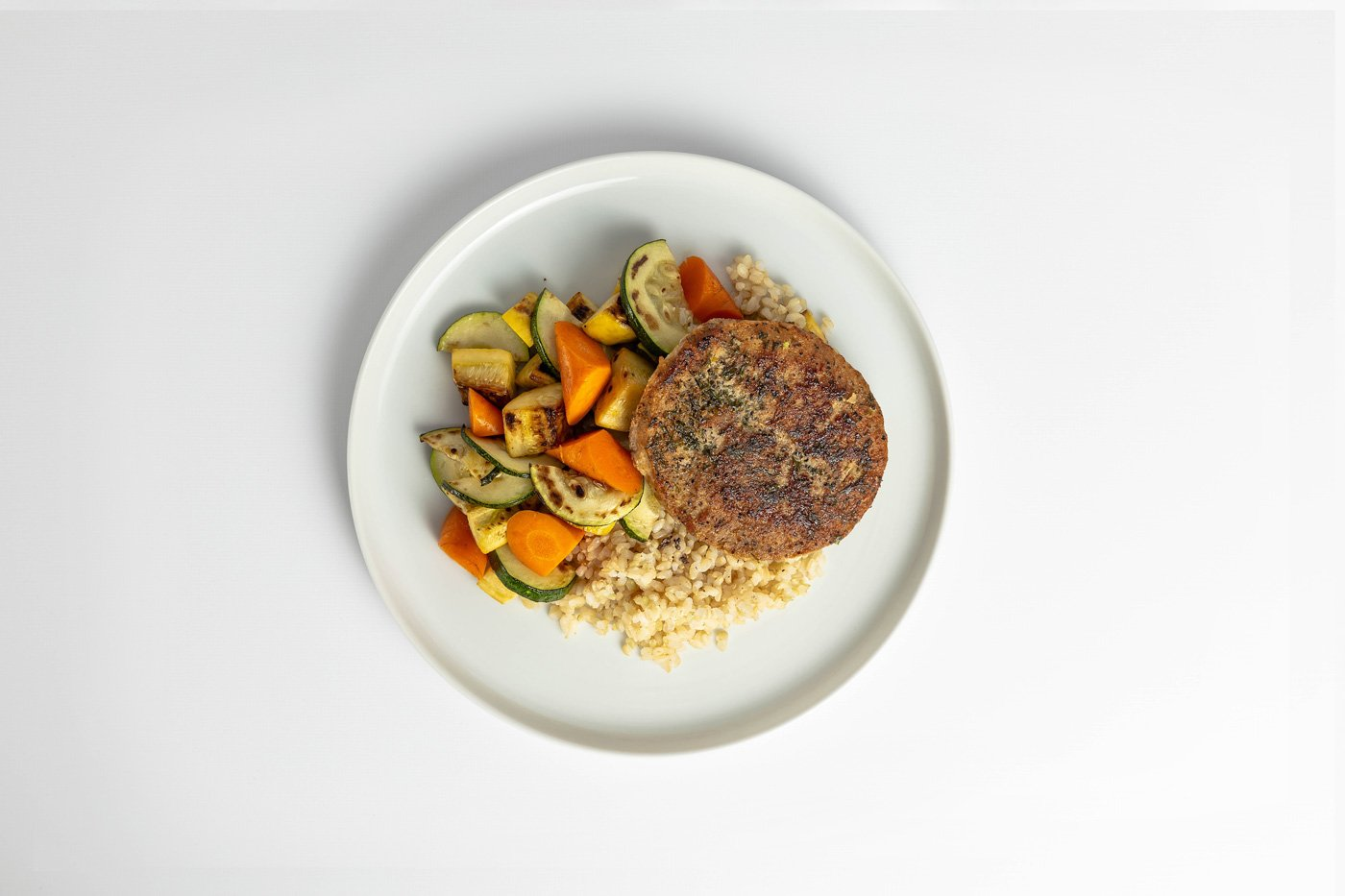 Turkey Patty, Brown Rice, Mixed Vegetables Meal Product Image